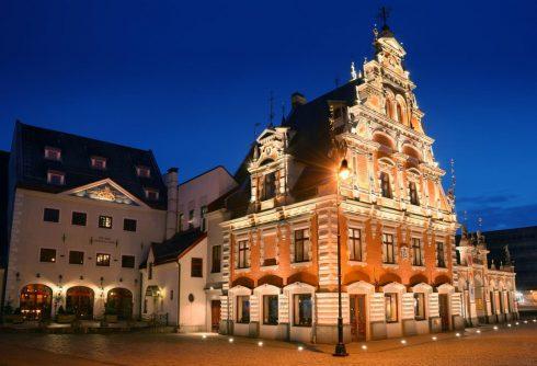 Rådhus, Riga, gamleby, Unesco Verdensarven, Latvia, Baltikum