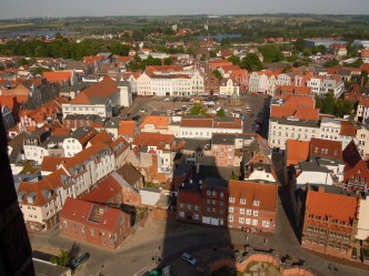 Wismars Marktplatz sett fra Marienkirches tårn, Unescos liste over Verdensarven, Nord-Tyskland