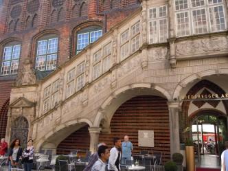 Renessansetrappen til rådhuset i Breite Strasse, Lübeck, Unesco