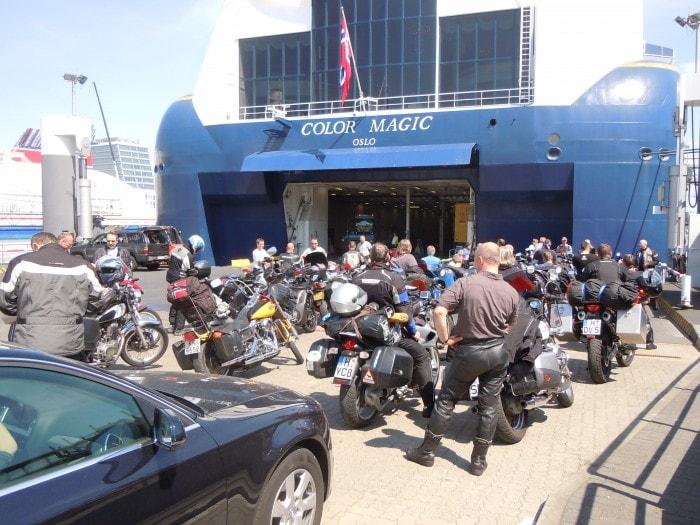 Color Line, Kiel, motorsykler