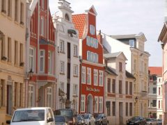 Bohrstrasse, Wismar, Østersjøen, middelalder, Backsteinsgotik, Ostsee, Unesco Verdensarv, Gamlebyen, Altstadt, Hansestadt Wismar, Mecklenburg Vorpommern, Nord-Tyskland