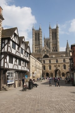 Lincoln, Lincoln Cathedral, Minster, England, romertid, middelalder, Castle Hill, Magna Carta, Steep Hill, Bailgate, early british gothic