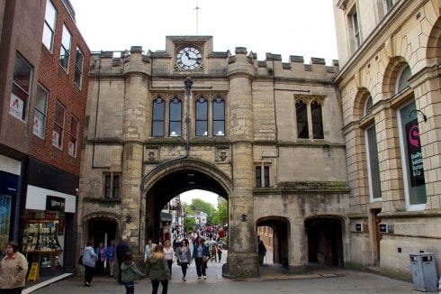 Lincoln, Guildhall Stonebow, High Bridge, Lincoln Cathedral, Minster, England, Brayford Pool, romertid, middelalder, Castle Hill, Magna Carta, Steep Hill, Bailgate, early british gothic