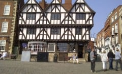 Lincoln, Leigh-Pemberton House, High Bridge, Lincoln Cathedral, Minster, England, Brayford Pool, romertid, middelalder, Castle Hill, Magna Carta, Steep Hill, Bailgate, early british gothic