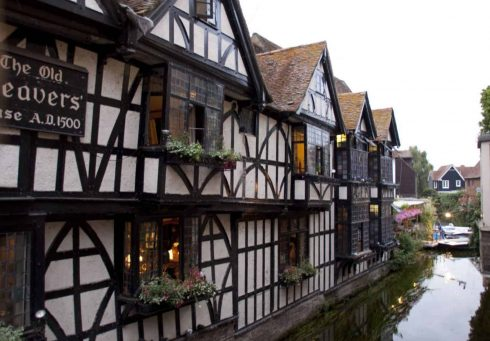 Canterbury, Cathedral, West gate, Christ Church Gate, Minster, Thomas Beckett, England, River Stour, The Weavers, romertid, middelalder, early british gothic, Storbritannia