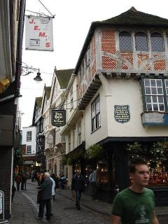 Canterbury, Sun Hotel, Sun Street, Cathedral, West gate, Christ Church Gate, Minster, Thomas Beckett, England, River Stour, The Old Weavers House, romertid, middelalder, early british gothic, Storbritannia