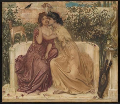 Simeon Solomon: Sappho and Erinna in a Garden at Mytilene 1864. Tate.