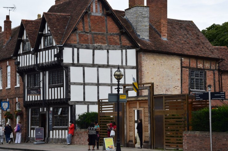 Shakespeares New Place, som han kjøpte i år 1597. Foto: © ReisDit.no