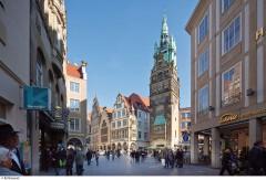 Münster, Tyskland, Vest-Tyskland, Westfalen, Aasee, Prinzipalmarkt, middelalder, Freden i Westfalen, Friedenssal, anabaptistene, LWL Museum Münster, Thürmerin, Dom St. Paul, Lamberti-kirche