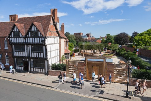 Stratford-upon-Avon, William Shakespeare, The Bard, middelalder, bindingsverk, Shakespeare's Birthplace, Clopton Bridge, Anne Hathaway, Mary Arden, New Place, Hall's Croft, John Hall, Holy Trinity Church