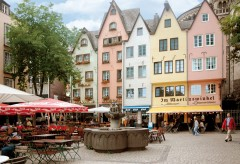 Fischmarkt i bydelen Martinsviertel, Altstadt, Köln, Nordrhein-Westfalen, Vest-Tyskland, Tyskland