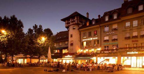 Waisenhausplatz, Hollendertårnet, Altstadt, Bern, Nord-Sveits, Sveits