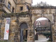 Schöne Pforte, Alte Hofhaltung, Altstadt, Bamberg, Sør-Tyskland, Tyskland