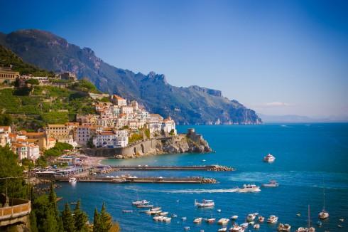 Amalfi, historisk bysenter, Unescos liste over Verdensarven, normannere, gourmet, gamleby, gotikken, romansk, renessansen, barokken, Amalfikysten, Sør-Italia, Italia