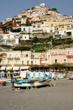 Positano er en meget bratt by, som gir sterke lårmuskler