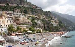 Positano stranden Campania Italia