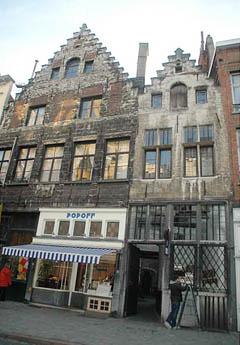 Vlaeykensgang ved Oude Koornmarkt 16, Antwerpen, Flandern, Belgia