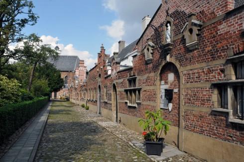 Beguinage, Antwerpen, Flandern, Belgia