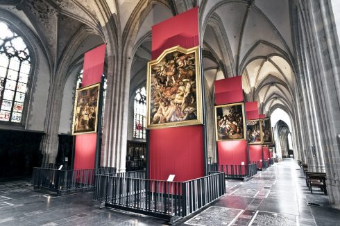 Katedral, sideskip, Antwerpen, Flandern, Belgia