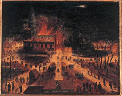 kathedral, brann, Grote Markt, Antwerpen, Flandern, Beligia