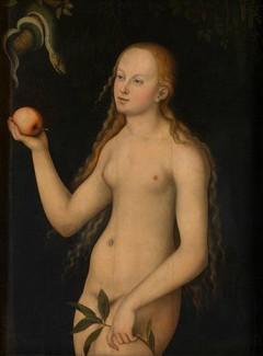 Eva av Lucas Cranach I, Koninklijk Museum voor Schone Kunsten, Antwerpen, Flandern, Belgia