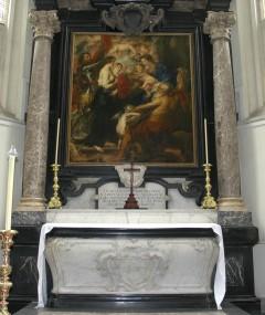 Rubens grav, Sint Jacob Kerk, Antwerpen, Flandern, Belgia