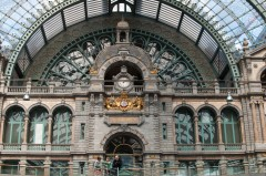 Jernbanestasjonen, Antwerpen, Flandern, Belgia