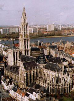 Katedral, Grote Markt, Antwerpen, Flandern, Belgia