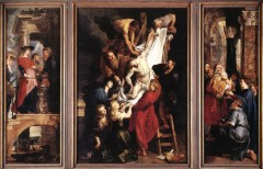 Triptych, katedral, Rubens, Antwerpen, Flandern, Belgia
