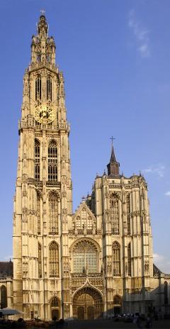 vestportalen, katedralen, Grote Markt, Antwerpen, Flandern, Belgia