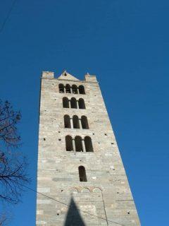 Sant'Orsos kampanile, Aosta, Valle d'Aosta, Nord-Italia, Italia