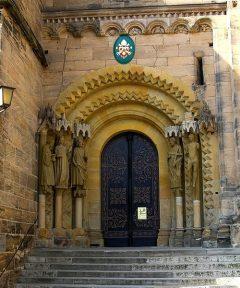 Adamspforte, Kaiserdom, Altstadt, Bamberg, Sør-Tyskland, Tyskland