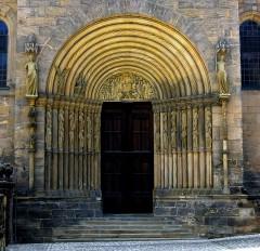 Fürstenportal, Kaiserdom, Altstadt, Bamberg, Sør-Tyskland, Tyskland