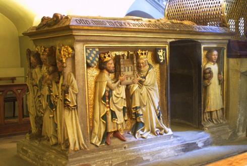 St Michaels kloster, Ottos grav, Bamberg, Sør-Tyskland, Tyskland