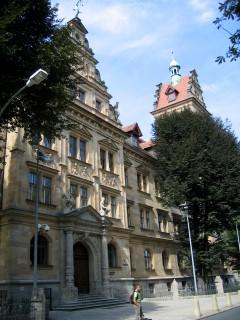 Zentraljustizgebäude, Altstadt, Bamberg, Sør-Tyskland, Tyskland
