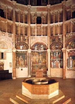 Parmas Battistero, fresker, Parma, Emilia Romagna, Nord-Italia, Italia