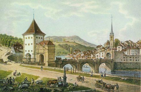Untertorbrücke, Felsenburgturm, Altstadt, Bern, Nord-Sveits, Sveits