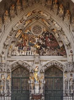Vestportalen, Münsterkirche, Altstadt, Bern, Nord-Sveits, Sveits