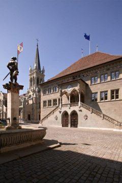 sengotisk, rådhus, Rathaus, Altstadt, Bern, Nord-Sveits, Sveits