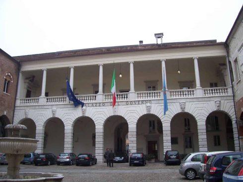Cortile de Broletto, Brescia, Lombardia, Nord-Italia, Italia