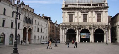 Piazza della Logiia, Brescia, Lombardia, Nord-Italia, Italia
