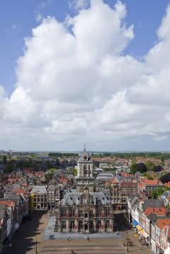 Det gamle rådhuset på Markt, Delft, Zuid-Holland, Sør-Nederland, Nederland