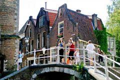 Kanaler, broer, Delft, Zuid-Holland, Sør-Nederland, Nederland