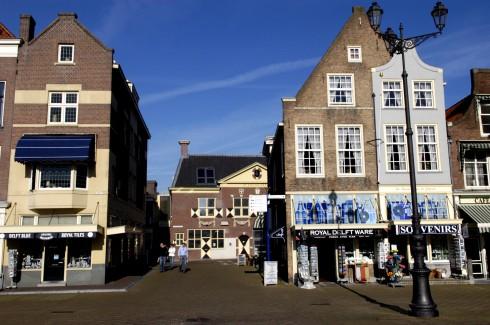 Delft-porselen, Markt, Delft, Zuid-Holland, Sør-Nederland, Nederland