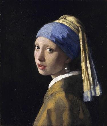 Vermeer, Pike med perleøredobber fra år 1665, Delft, Zuid-Holland, Sør-Nederland, Nederland