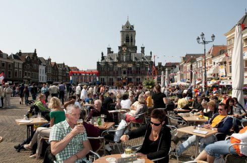 Markt, Delft, Zuid-Holland, Sør-Nederland, Nederland