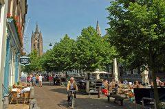 Kleywegs Staadskoffyhuis, Oude Kerk, Delft, Zuid-Holland, Sør-Nederland, Nederland