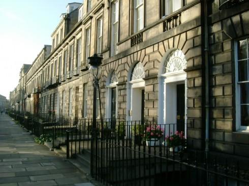 Heriot Row, New Town, Edinburgh, Skottland, Storbritannia