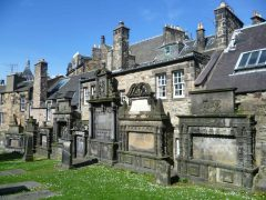 Greyfriars Kirkyard, Old Town, Edinburgh, Skottland, Storbritannia