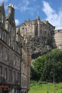 Grassmarket, Castle Hill, Edinburgh, Skottland, Storbritannia